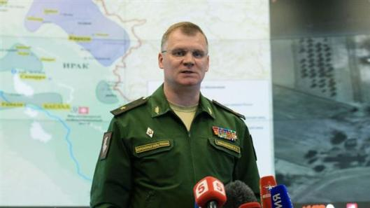 "Maj. Gen. Igor Konashenkov flatly denied the claims. The Russian and Iranian denials destroy the farcical claims of the despicable Washington ""sources."""