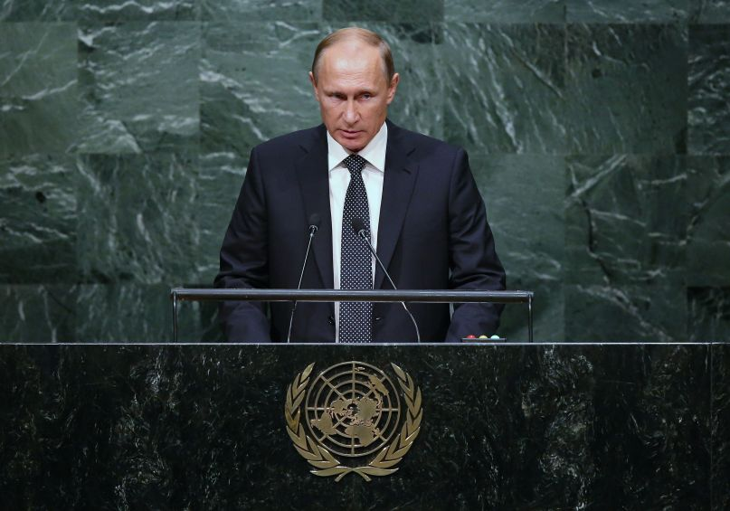 President of Russia Vladimir Putin addresses the United Nations General Assembly September 28th, 2015.