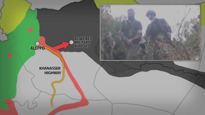 Still from South front video of area of north western Syrian Military Offensive.