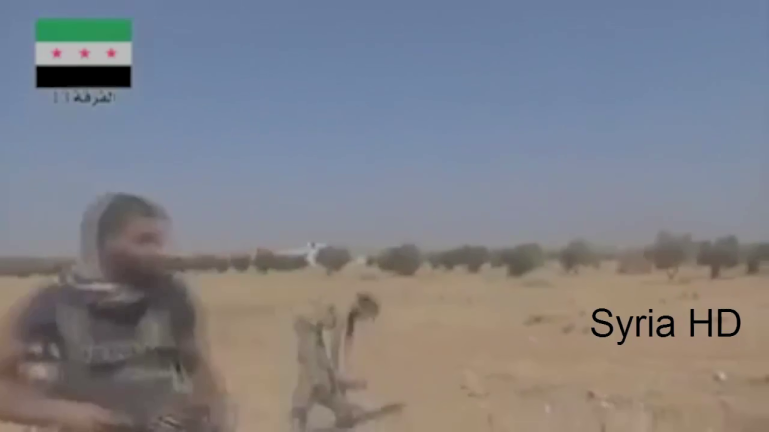 There is a reason soldiers are taught to fight behind cover. Insurgent RPG operator is instantly killed here by sniper fire as he raises his weapon in an open field.