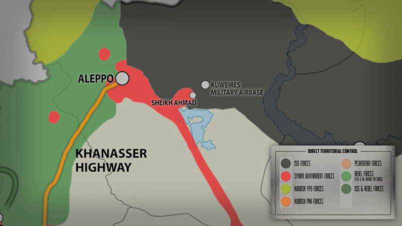 Securing the Khannassar highway remains a key goal of the Syrian Army at this time.