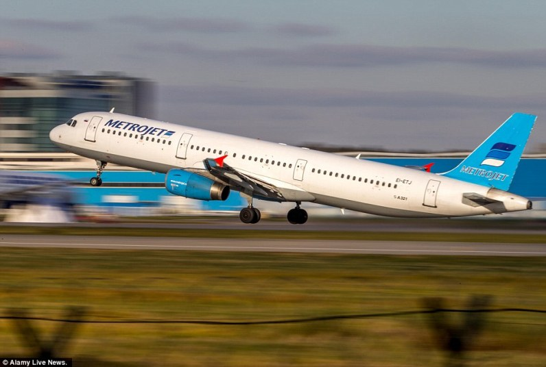 A Metrojet Airbus A321. the same aircraft that was destroyed over the Northern Sinai.