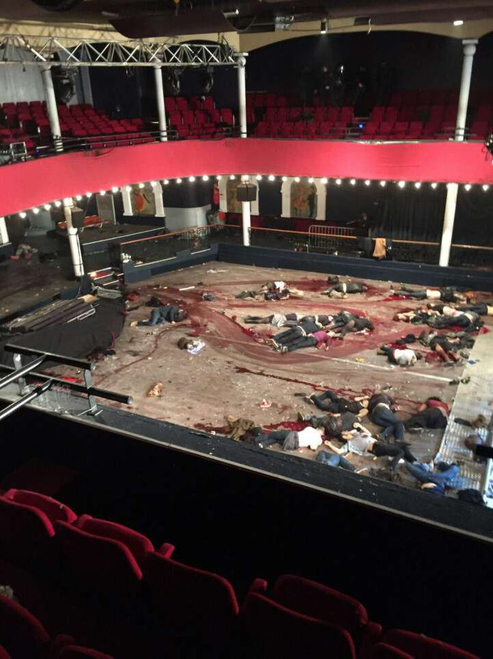 The aftermath of the Bataclan Concert Hall massacrewas clearly a crudely staged scene.