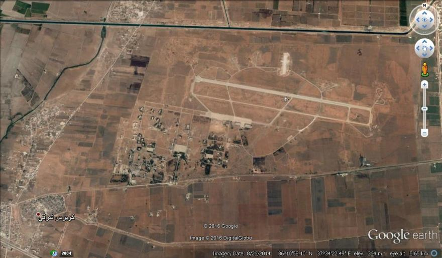 The Kweires Military Airbase from Google Earth.