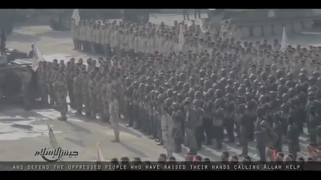 Jaish al Islam military parade, Eastern Ghouta April, 2015.