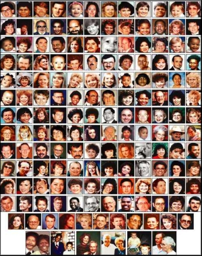 Most of the168 acknowledged victims of the massacre in Oklahoma City.