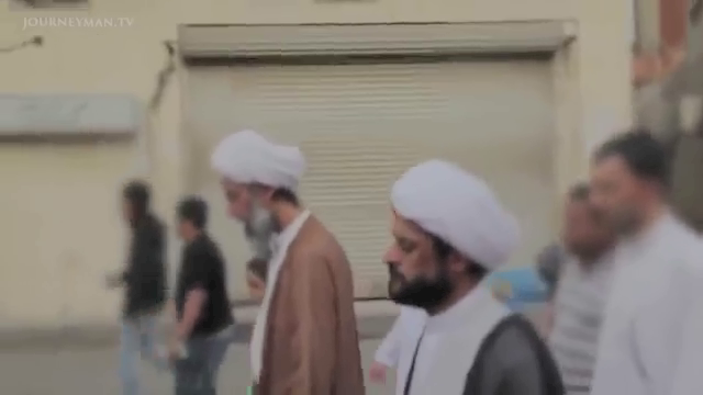 Sheikh Nimr participates in a small protest march in Eastern Saudi Arabia in 2011.