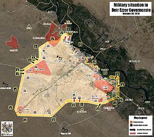 The Der az Zour pocket showing the SAA positions.