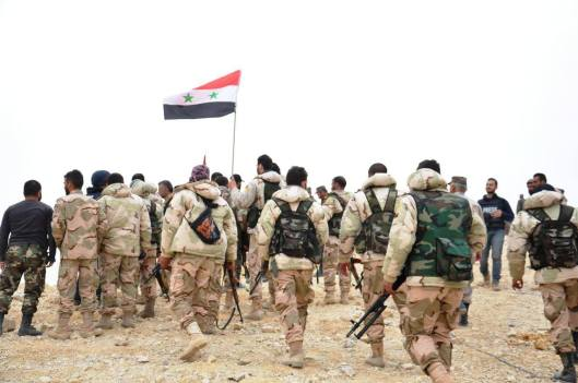 The Syrian Army, liberators of Palmyra, defenders of civilisation.