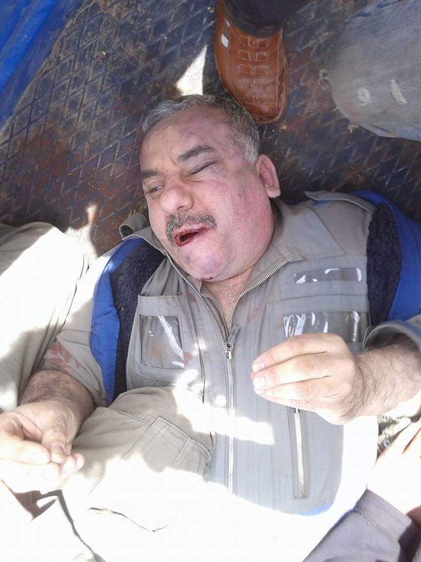 The name of the captured pilot has not been released yet, here the man, said to be a 52 year old Colonel is shown after capture.