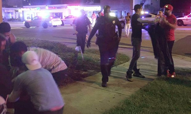 Police and bystanders in Orlando, June 12th, 2016.