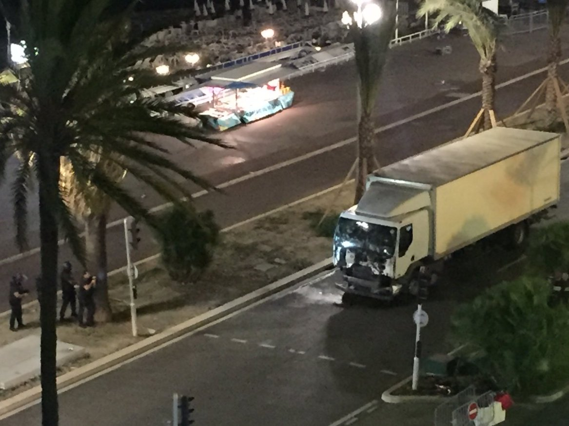 The truck purportedly used in the Nice incident.
