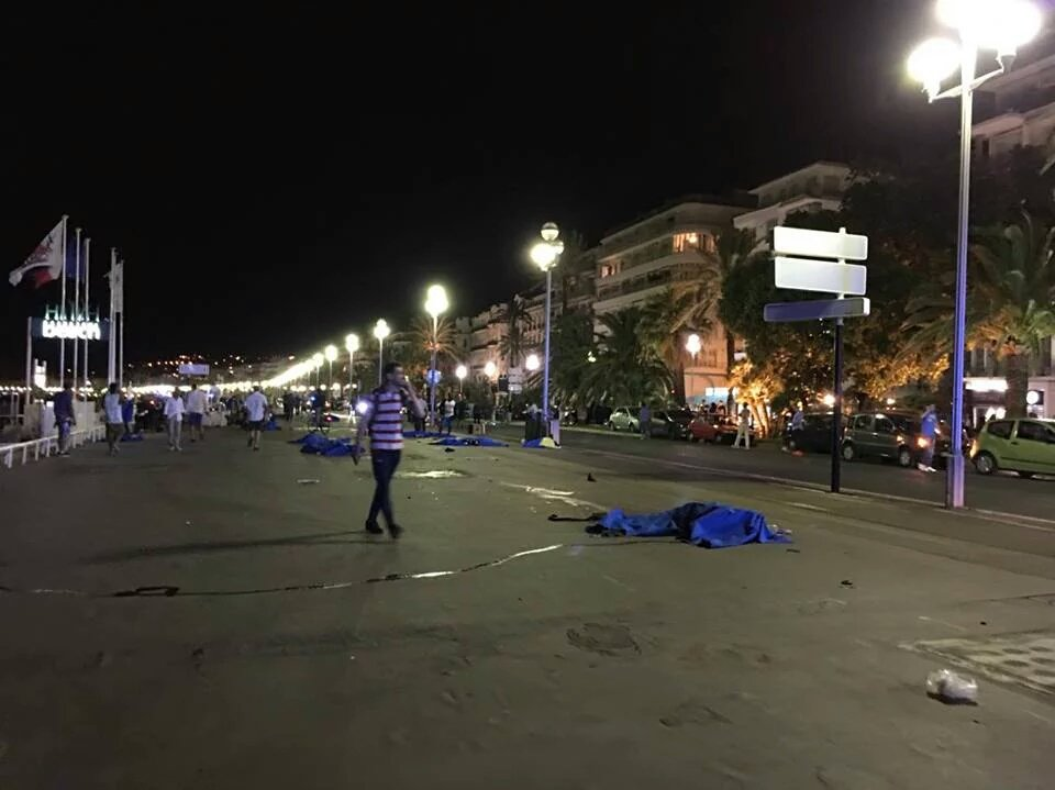 Aftermath of the Nice attack.