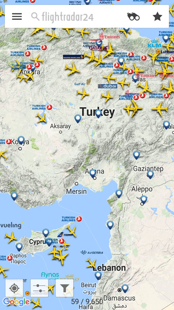 Flight Radar image appears to confirm that the airspace surrounding Incirlik has been closed, as it was in the wake if the failed coup two weeks ago.