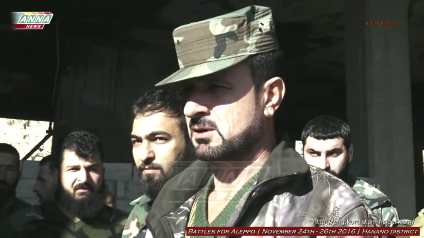 Tiger Force Commander Suheil al Hassan personally reassures civilians freed from the jihadist pocket that they will be taken care of following the liberation of the key Hanano district that led to the collapse of the entire northern sector of the jihadist pocket.