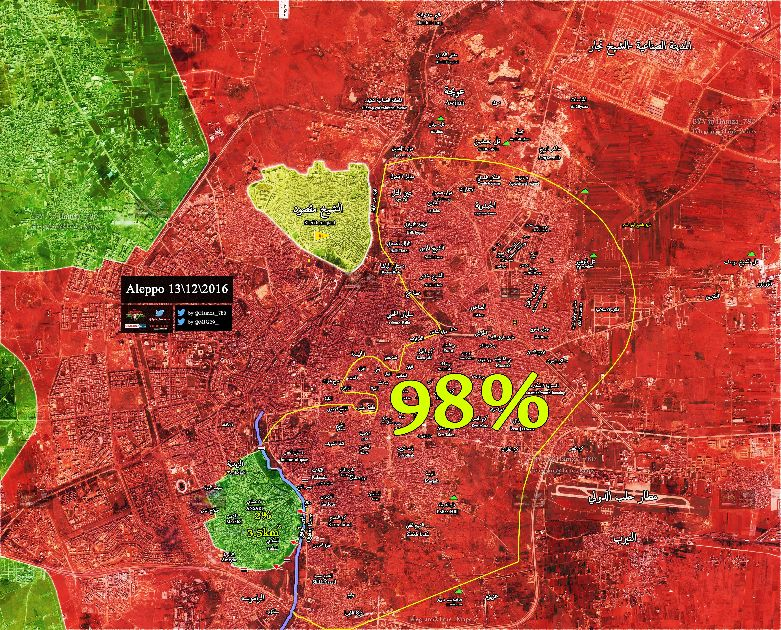 The final battle map of Aleppo.