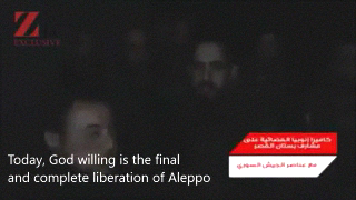Message from a Syrian Army soldier following th liberation of Aleppo.