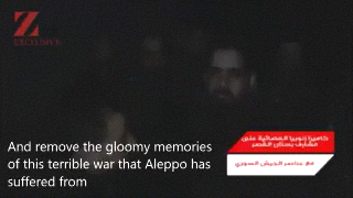 Message from a Syrian Army soldier following the liberation of Aleppo.