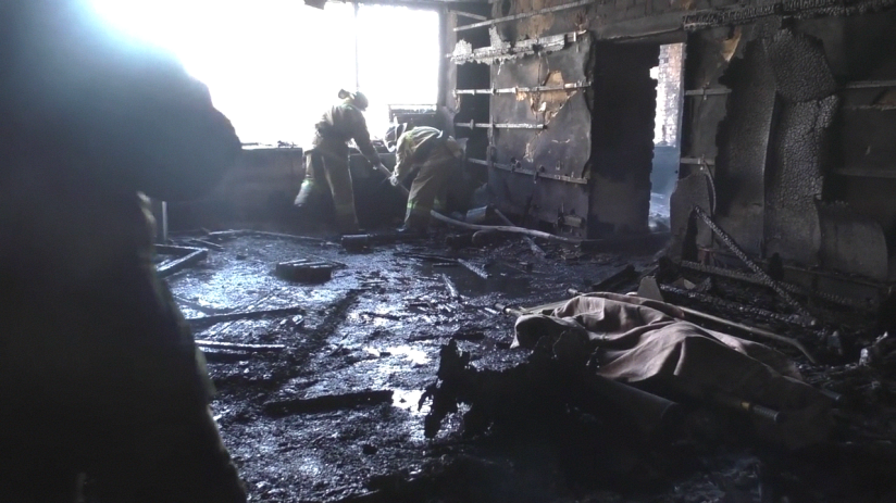 The horrific aftermath of the attack on Givi's office in Donetsk on February 8th, 2017.