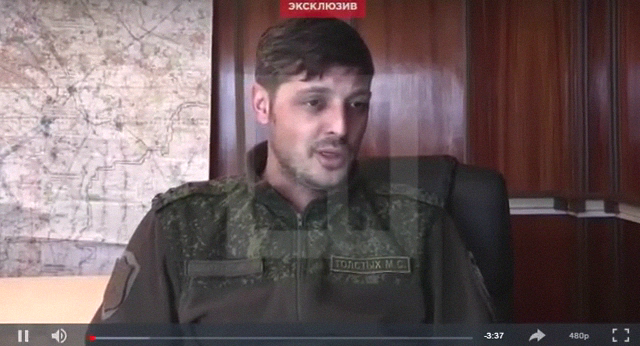Mikhail Tolstykh interviewed in recent days.